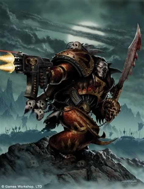 chaos space marines concept giant bomb