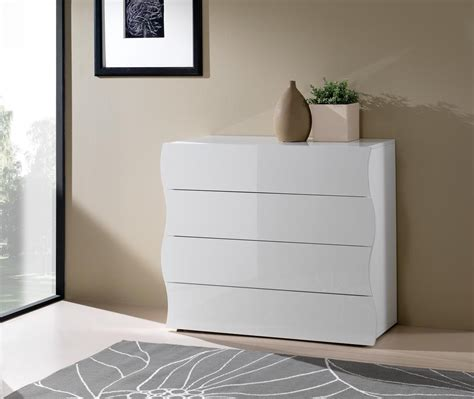 d馗o originale chambre commode design 4 tiroirs laquée blanche onida chambre enfant chambre