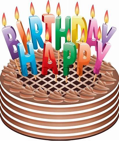Cake Birthday Chocolate Clipart Icon Candles Clip