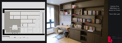 bibliotheque et bureau intégré portfolio tags agence