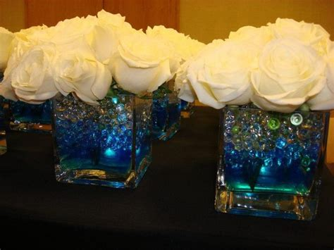 Vase Gel Balls by Glowing Centerpiece For A Wedding Square Vase Filled With