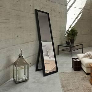 Miroir Sur Pied : miroir soweto noir x cm leroy merlin ~ Teatrodelosmanantiales.com Idées de Décoration