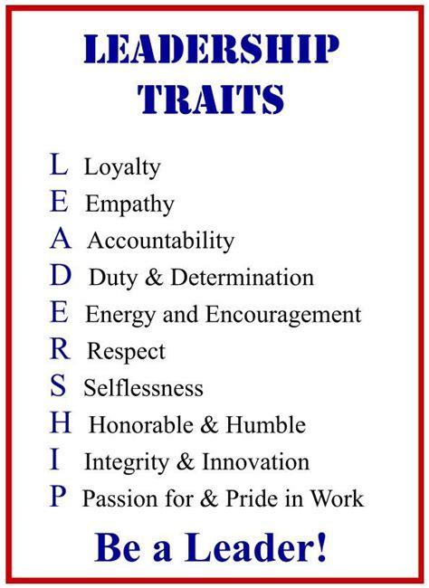 leadership traits poster display  leadership