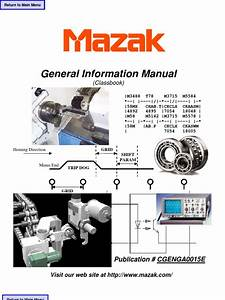 Mazak General Information Manual
