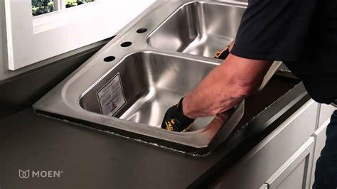 install  stainless steel drop  sink moen