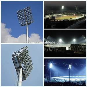 Football stadium post m high mast lighting pole drawing