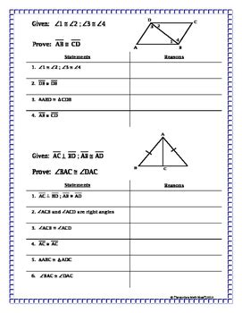 congruent triangles proving triangles congruent missing reasons proof prac