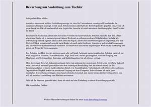 Bewerbung Zur Ausbildung : tischler bewerbung um ausbildung muster und tipps ~ Eleganceandgraceweddings.com Haus und Dekorationen