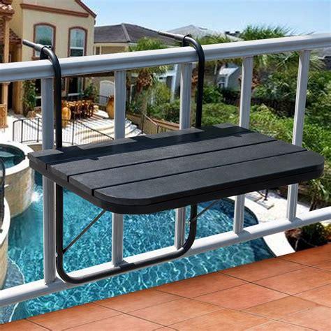 Outdoor Deck Table by Sundale Outdoor Folding Deck Table Patio Garden Adjustable