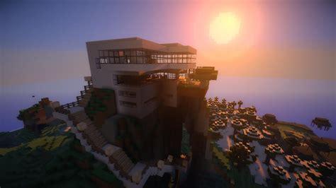 fond d ecran moderne fond d 233 cran minecraft maison moderne