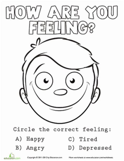 social skills worksheets  printables educationcom emotions coloring pages  preschoolers
