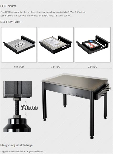 lian li dk q2 all black aluminum tempered glass desktop
