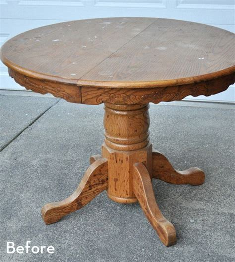 paint  thrift store kitchen table curbly diy