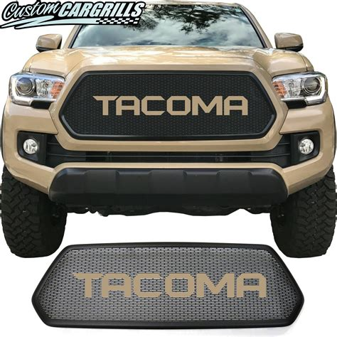 toyota tacoma mesh grill bezel sharp letters