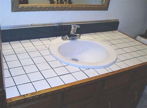 turn tile counter top  faux sandstone tile