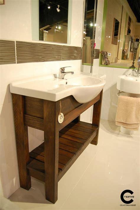 Bathroom Vanities From Pallets  Elegant Orange Bathroom