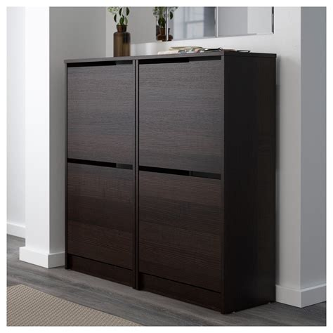 Bissa Shoe Cabinet White by Bissa Shoe Cabinet With 2 Compartments Black Brown 49x93