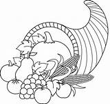 Horn Coloring Plenty Thanksgiving Printable Cornucopia Stuffing Clipart Clip Outline Awesome Library Harvest Fall Sweetclipart sketch template