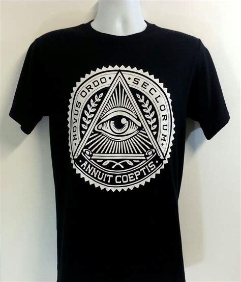 Illuminati Clothes Novus Ordo Seclorum New T Shirt Illuminati Eye New World