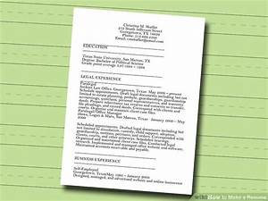 7 ways to make a resume wikihow how to make a resume step With how to make a free resume step by step