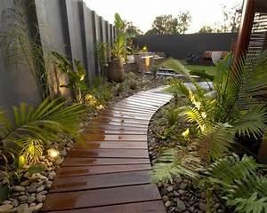 amenagement allee de jardin et chemin de pierre en 95 With wonderful allee de jardin en pierre 5 decoration paysagere traverses paysagares en bois