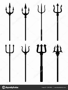 siluety trident — Stock Vektor © ratkomat #134619802