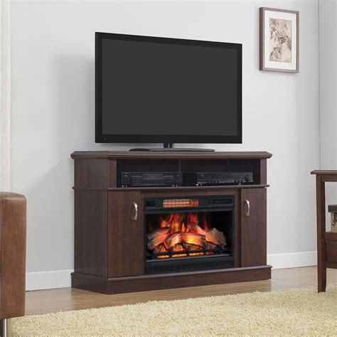 dwell infrared electric fireplace entertainment center