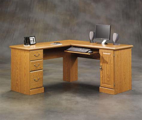 sauder orchard hills corner computer desk sauder orchard hills carolina oak corner computer desk at