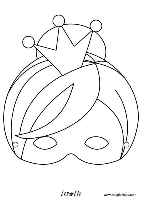 Kleurplaat Carnaval Trol Masker by Paarden Masker Kleurplaat Inkleur Masker Leeuw Knutselen