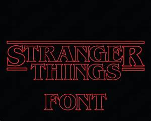 stranger things font svg collection stranger things With stranger things lettering