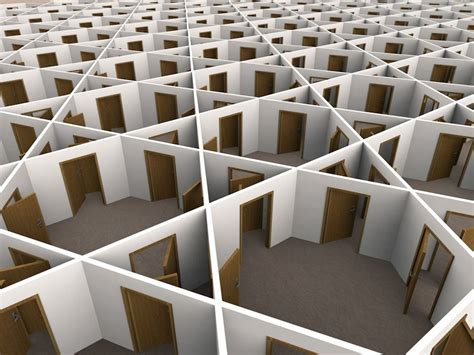 Office Maze #3dillustration Made With #cinema4d