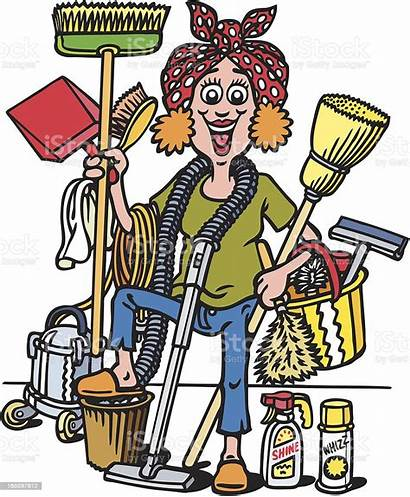 Cleaning Lady Istock Vector Adult Illustration