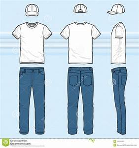 T-shirt and jeans set stock vector. Image of headwear - 52833065
