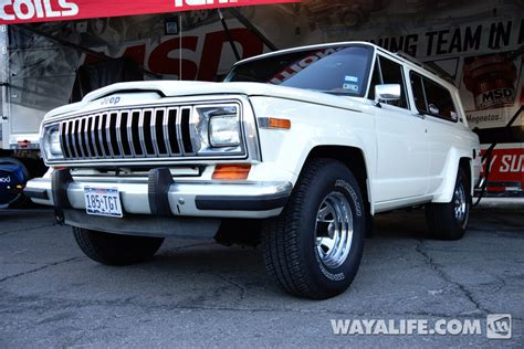 old white jeep cherokee 2013 sema msd jeep cherokee chief