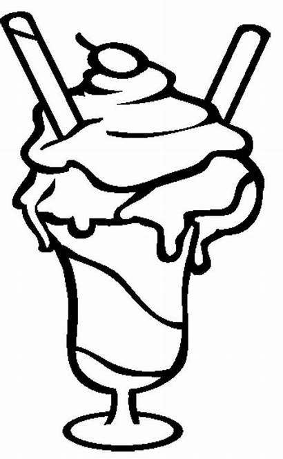 Ice Cream Coloring Pages Sundae Cookie Printable