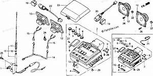 Honda Motorcycle 1993 Oem Parts Diagram For Radio Cassette