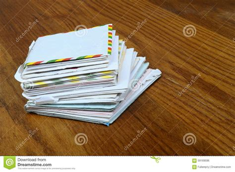 Letters And Envelope Stock Photo