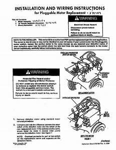 Installation And Wiring Instructions  For Pluggable Motor