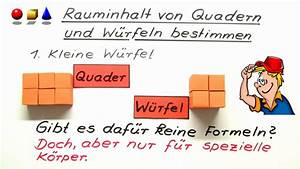 Volumen Quader Berechnen : volumen und oberfl che von quadern und w rfeln online lernen ~ Themetempest.com Abrechnung