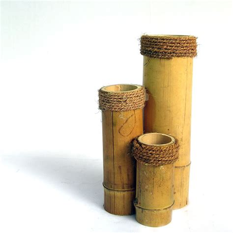 Bamboo Vase by Unbreakable Bamboo Vase Brown Shopping