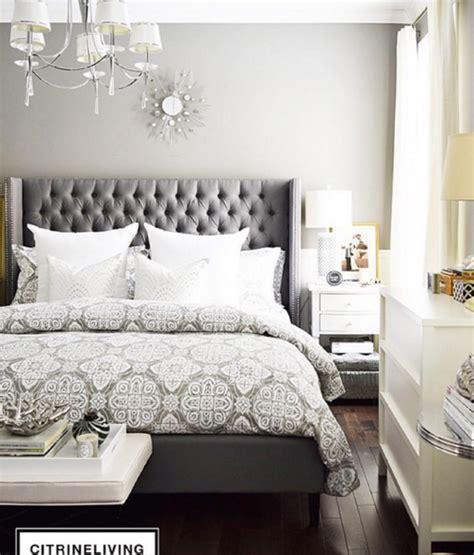 headboard tufted grey bed upholstered bedroom decor gray bedding master bedrooms dark headboards room furniture designs combo beds wall comforter
