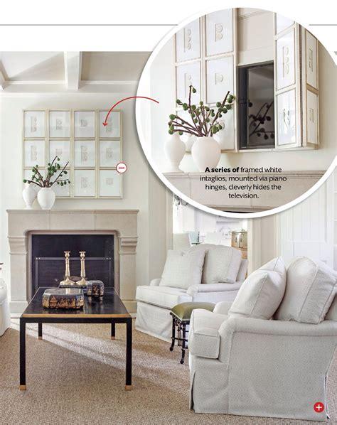 lighten   living room home hidden tv tv