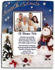 Snowman Frame Poetry Gift that will warm their hearts