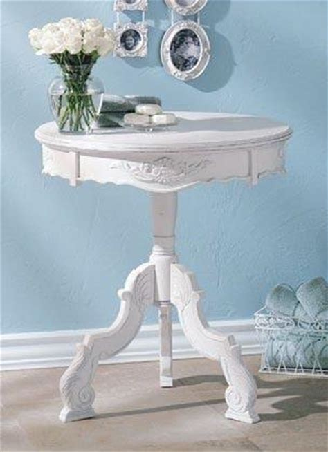 furniture romantic carved wood accent table  white