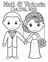 Coloring Printable Groom Bride Pages Activity Colouring Personalized Sheets Etsy Couple Pdf Games Childrens Favor Sold Books Table sketch template