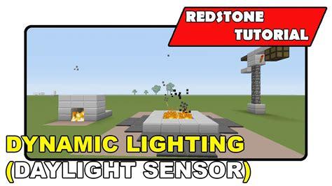 redstone ls with daylight sensor dynamic lighting daylight sensor quot redstone tutorial