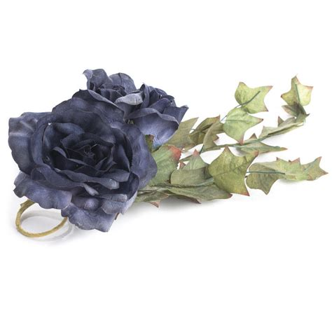 midnight blue artificial rose candle ring candles and