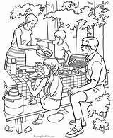 Coloring Camping Preschool Popular sketch template