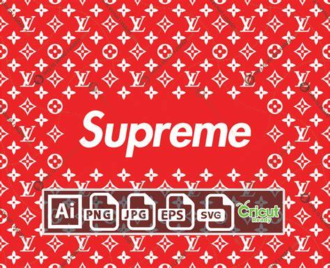 supreme  lv inspired printable monogram art vector art design  quality ai svg jpg png