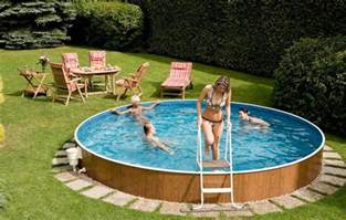 Decks For Round Above Ground Pools backyard swimming pools above ground pool design ideas